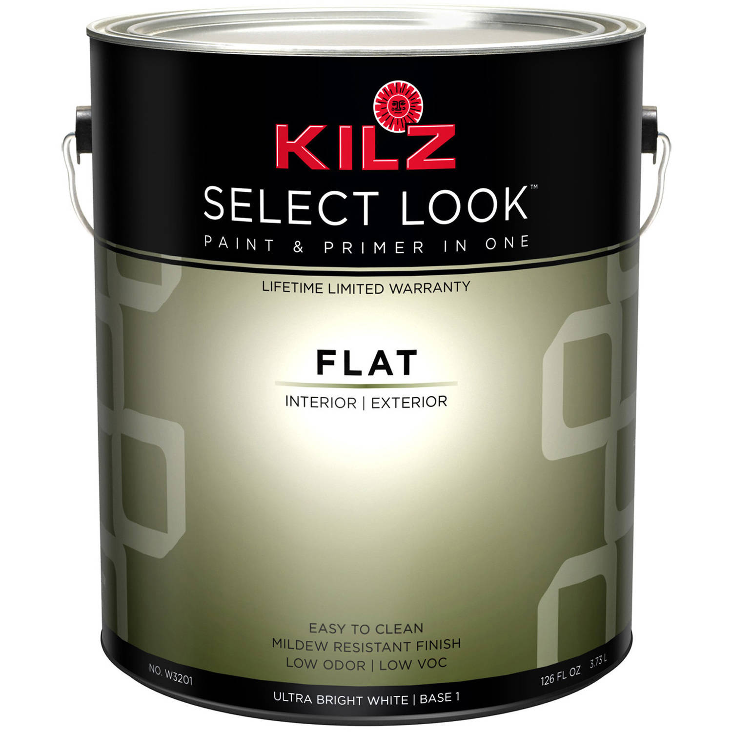 KILZ Select Look Flat Ultra Bright White Base, 1 Quart