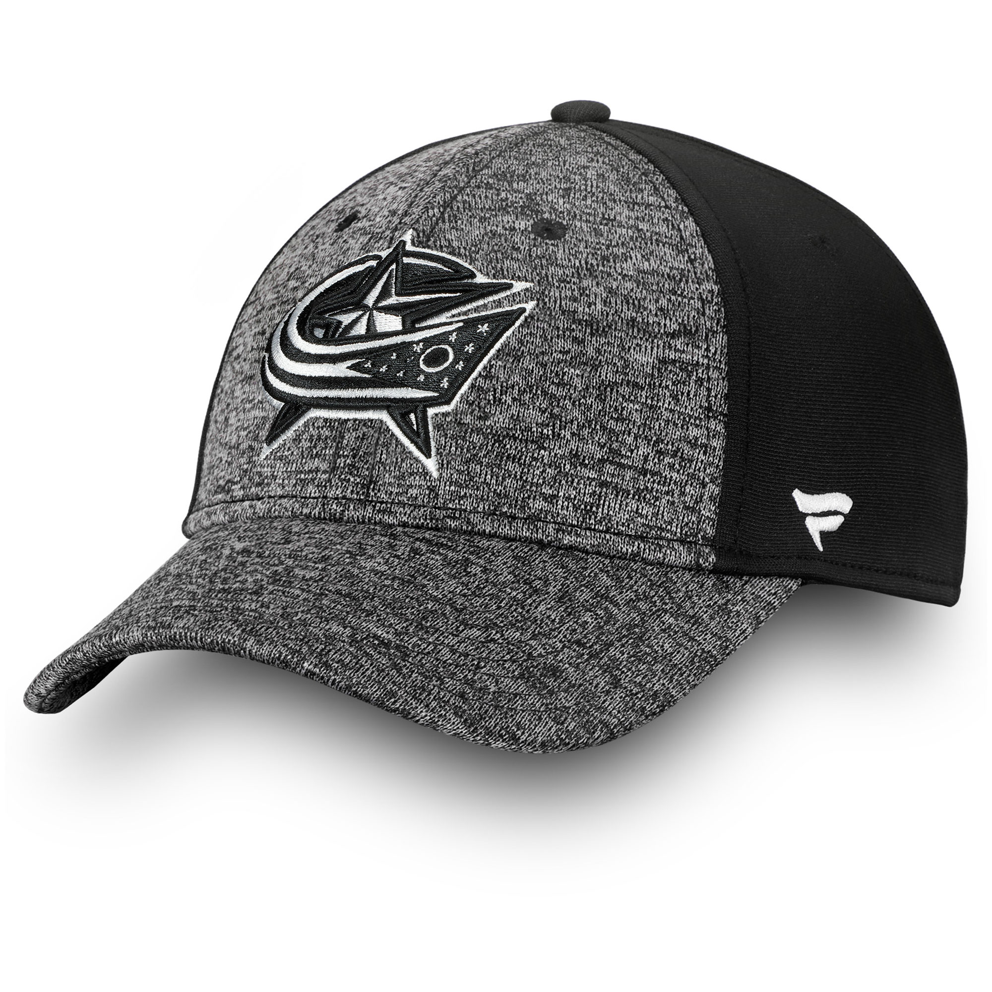 Columbus Blue Jackets Fanatics Branded Black and White Mesh Speed Flex Hat - Gray/Black