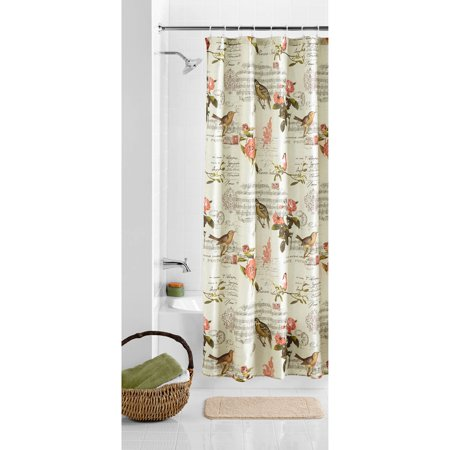 Discontinued Mainstays Carte Postale Nature Inspired 70 X 72 Polyester Shower Curtain