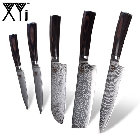 XYj Damascus Steel Kitchen knife 8