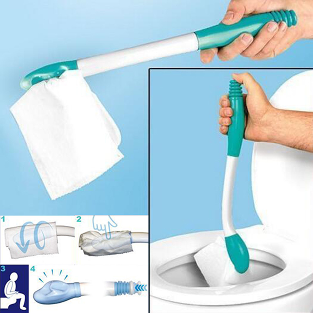 Bottom Bum Wiper Toilet Incontinence Aid Obese Elderly Disability Mobility New