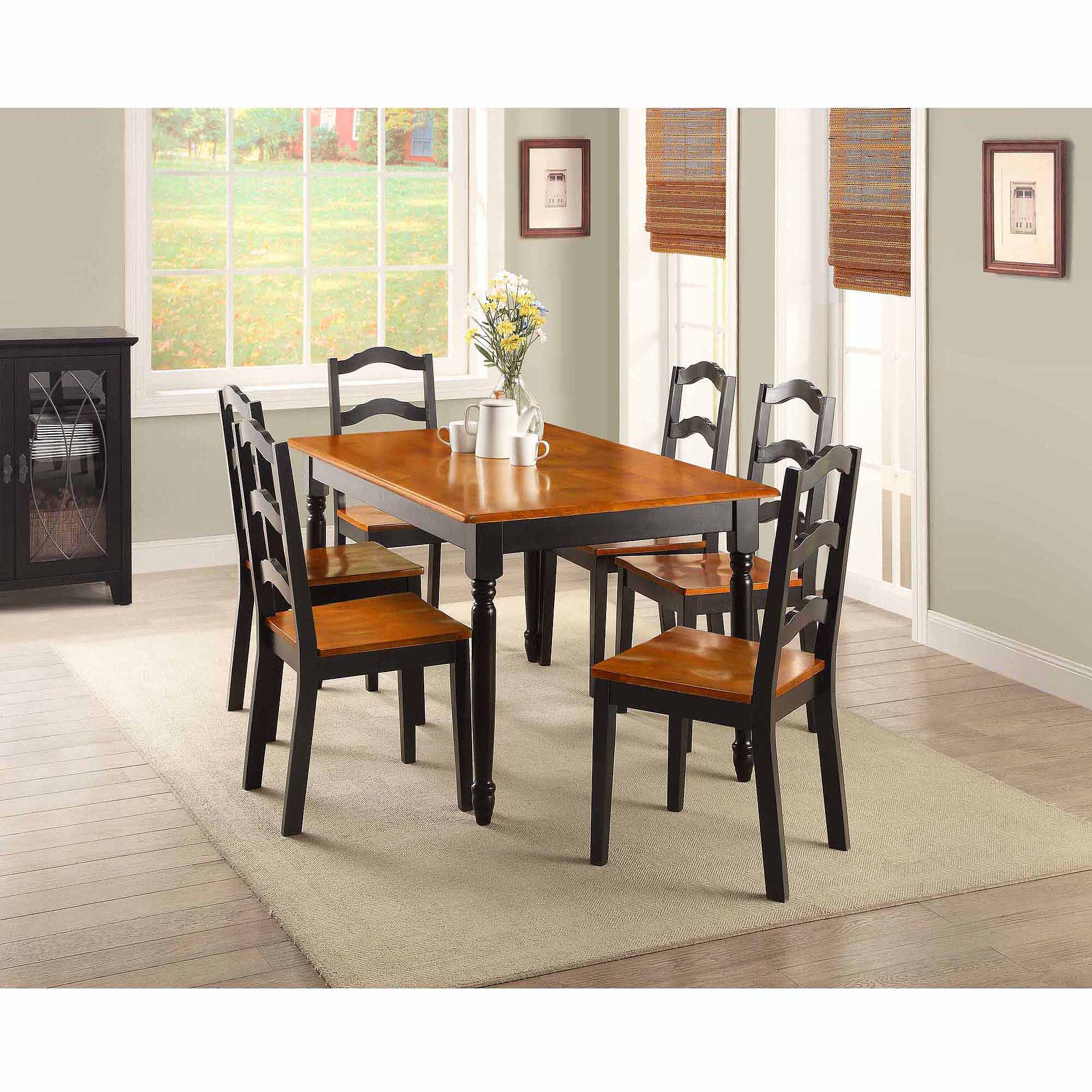 Better Homes And Garden Kitchens Better Homes And Gardens Autumn Lane 5 Piece Dining Set Black And