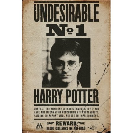 Harry Potter - Movie Poster (Wanted: Undesirable No. 1 - Harry Potter) (Size: 24
