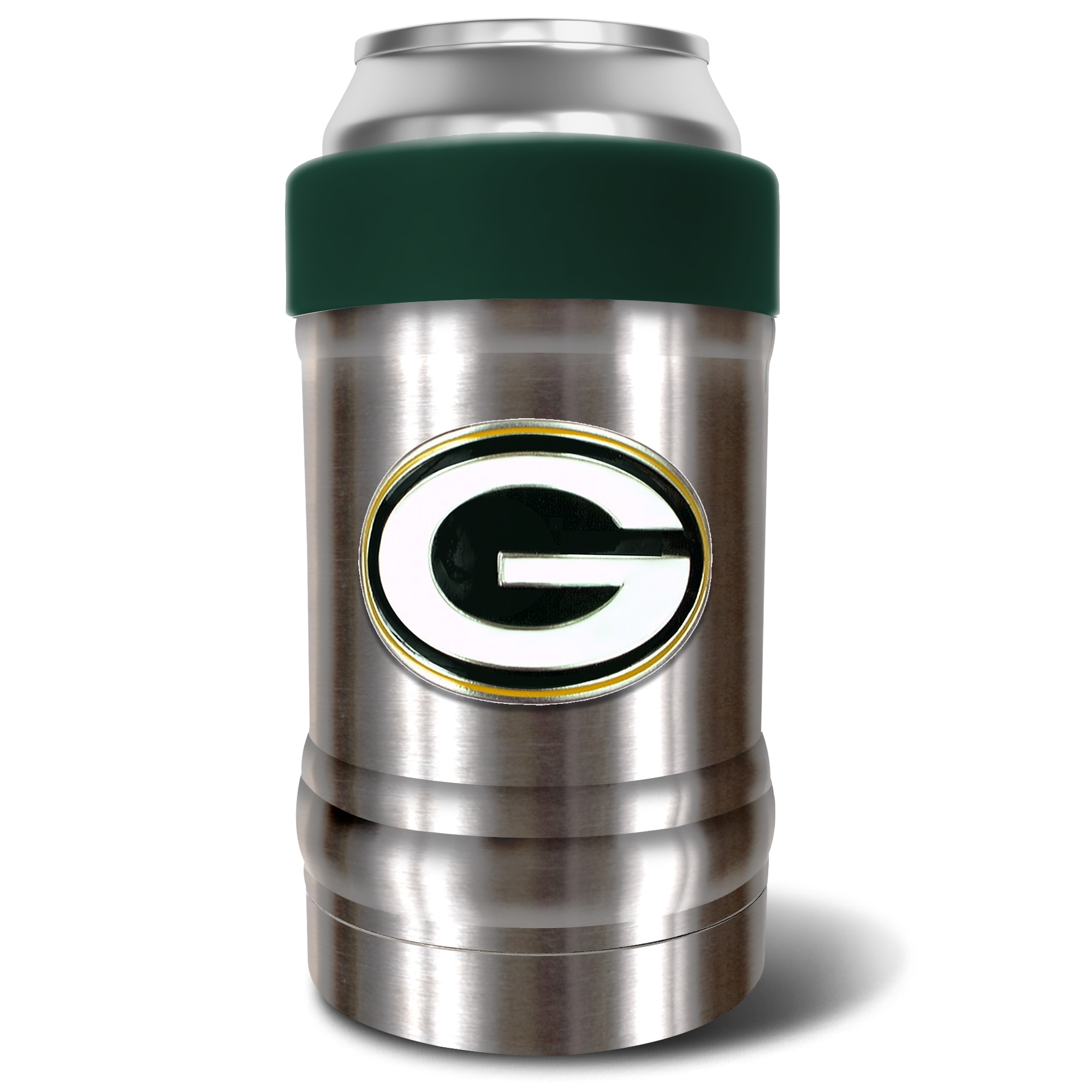 Green Bay Packers The Locker 12oz. Can Holder - Silver/Green - No Size