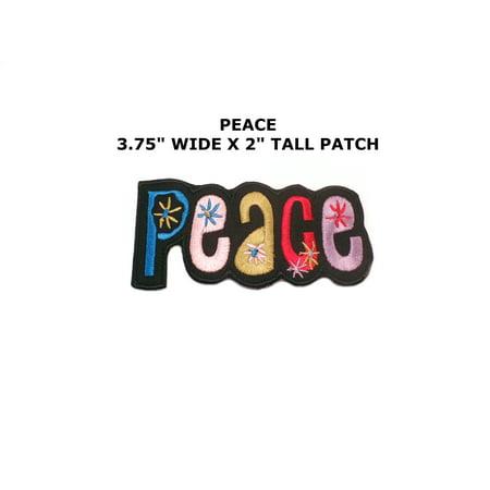 Peace sign hippie boho retro flower power summer of love hippy applique iron-on patch new (Flower Power Hippie)