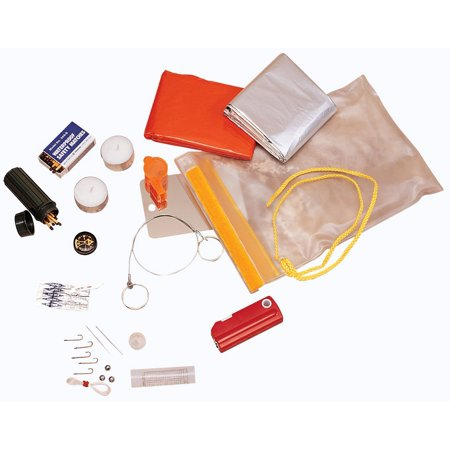 Emergency Survival Kit, Water Rescue Shield Flashlight Headlight Pantry Month Scraper Back Preparedness Sportsmans Shelter Pack Aid Space 12 Tactical 13 in.., By Stansport Ship from US