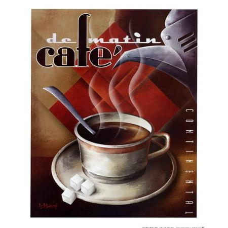Michael Kungl Cafe (Cafe de Matin Art Print  By Michael L.)