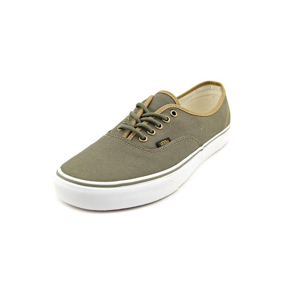 6d2c4a7217 Vans Authentic Men Round Toe Canvas Green Sneakers – Walmart ...
