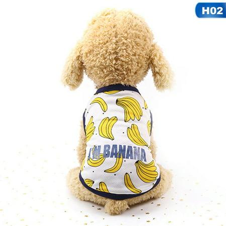 Couple And Dog Costume Ideas (SHOPFIVE I'm Banana Print Pet Clothes Skirt Korean Style Dog Dress For Dogs Summer Banana Dress Couple Dogs Clothes Pet Cat)
