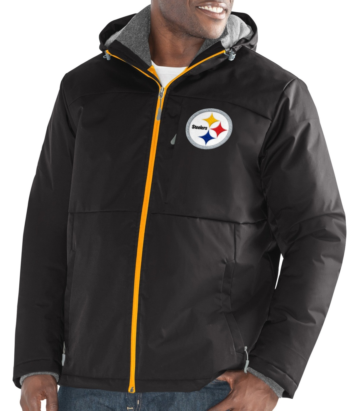"Pittsburgh Steelers Men's NFL G-III ""Points"" Full Zip Polyfill Dobby Jacket by G-III Sports"