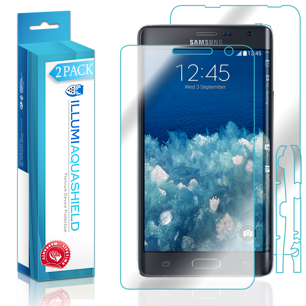 2x iLLumi AquaShield Front Screen + Back Protector for Samsung Galaxy Note Edge
