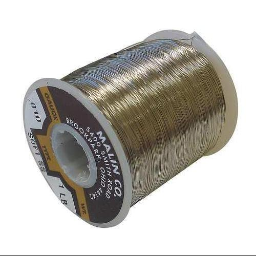 MALIN COMPANY 03-0319-014S Lockwire,Spool,0.0319 Dia,81.5ft