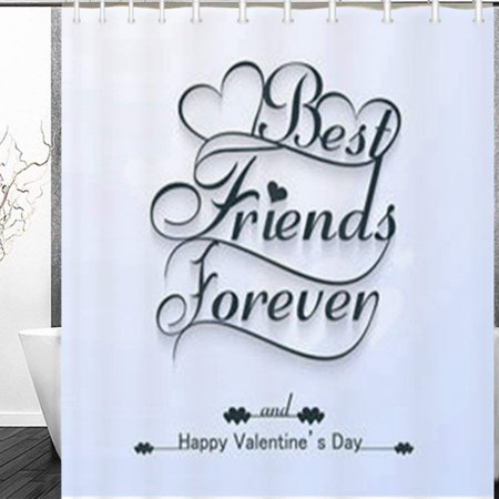 BPBOP Beautiful Best Friends Forever Happy Valentines Miscellaneous Day Shower Curtain 60x72