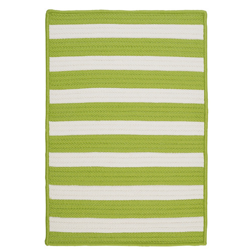 Colonial Mills Stripe It Bright Lime Indoor/Outdoor Area Rug