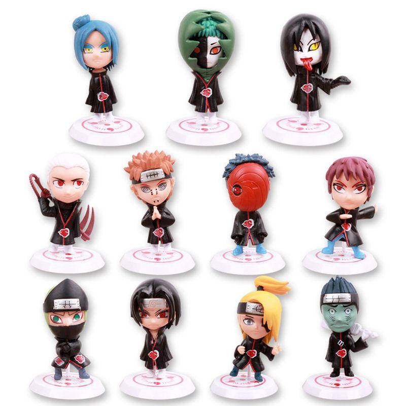 6 PCS PVC Anime Naruto Action Figures Dolls Set New Uzumaki Naruto Uchiha Sasuke
