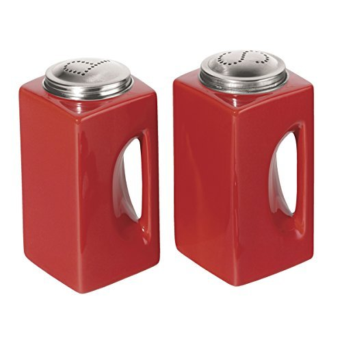 Click here to buy Oggi Salt and Pepper Shakers in Red by OGGI.