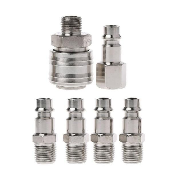 12 PCS Air Line Hose Compressor Fitting Coupling Connector Quick Release 1//4BSP