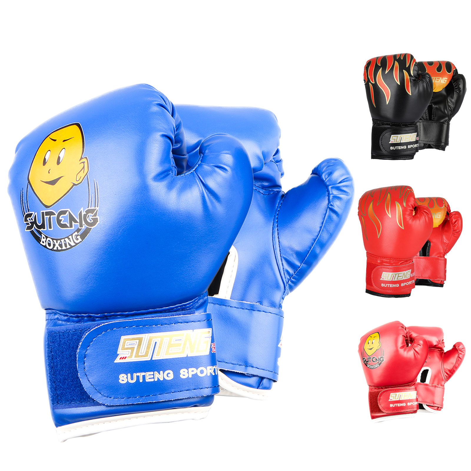 New Leather Boxing Gloves Sparring Punching Fighting UFC MMA Muay Thai Training