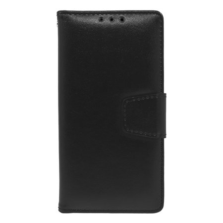Kyocera Leather (Kyocera Hydro View; 6742 Folio Leather Wallet Pouch Case Cover Black )