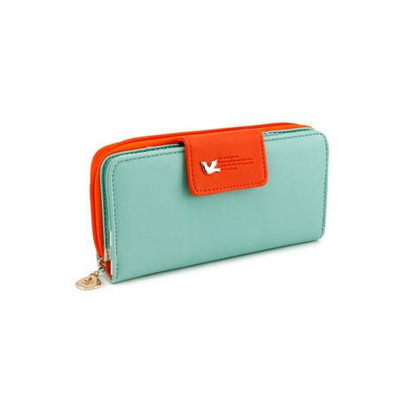 New Fashion Lady Women Pu Leather Cute Buckle Clutch Wallet Long Card Holder Case Purse Handbag