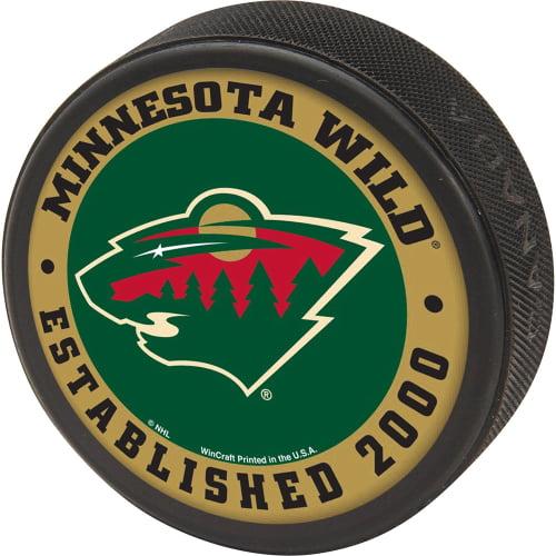 Minnesota Wild WinCraft Printed Hockey Puck - No Size