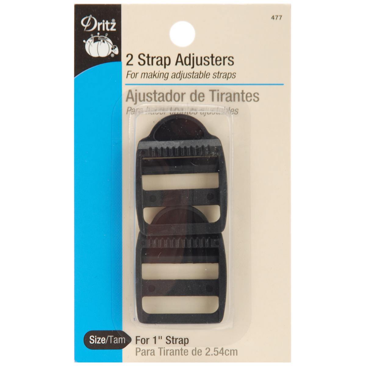 """Dritz Strap Adjusters For 1"""" Strap 2/Pkg-Black"""