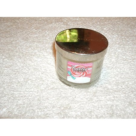Bath & Body Works Twisted Peppermint Christmas Candle Retired Scent 1.3