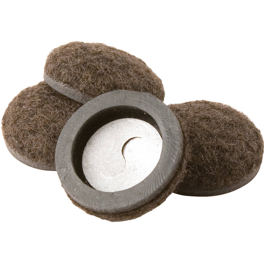 "Waxman Consumer Group 4338495N 1"" Self-Stick Felt Round Furniture Sliders, 4 Count"