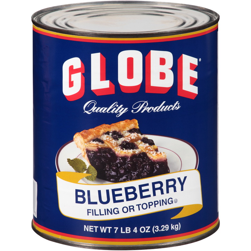 (Price/case)Globe 260451 Filling Blueberry 6-10 Can