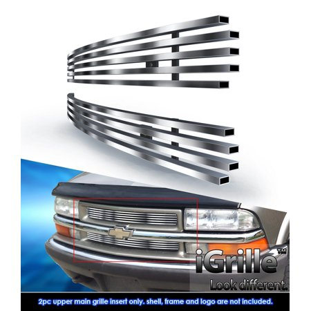 Fits 98-04 Chevy S-10 /98-05 Blazer Stainless Steel Billet Grille - Blazer Billet Grille Replacement