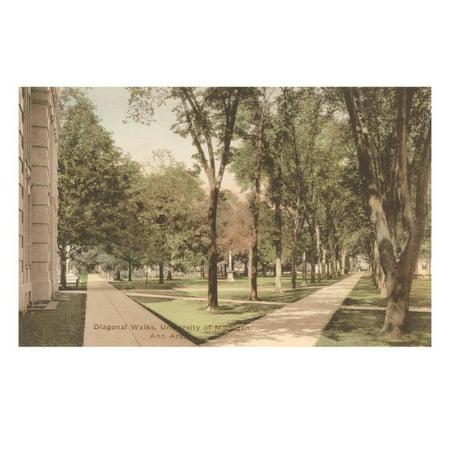 University, Ann Arbor, Michigan Print Wall Art