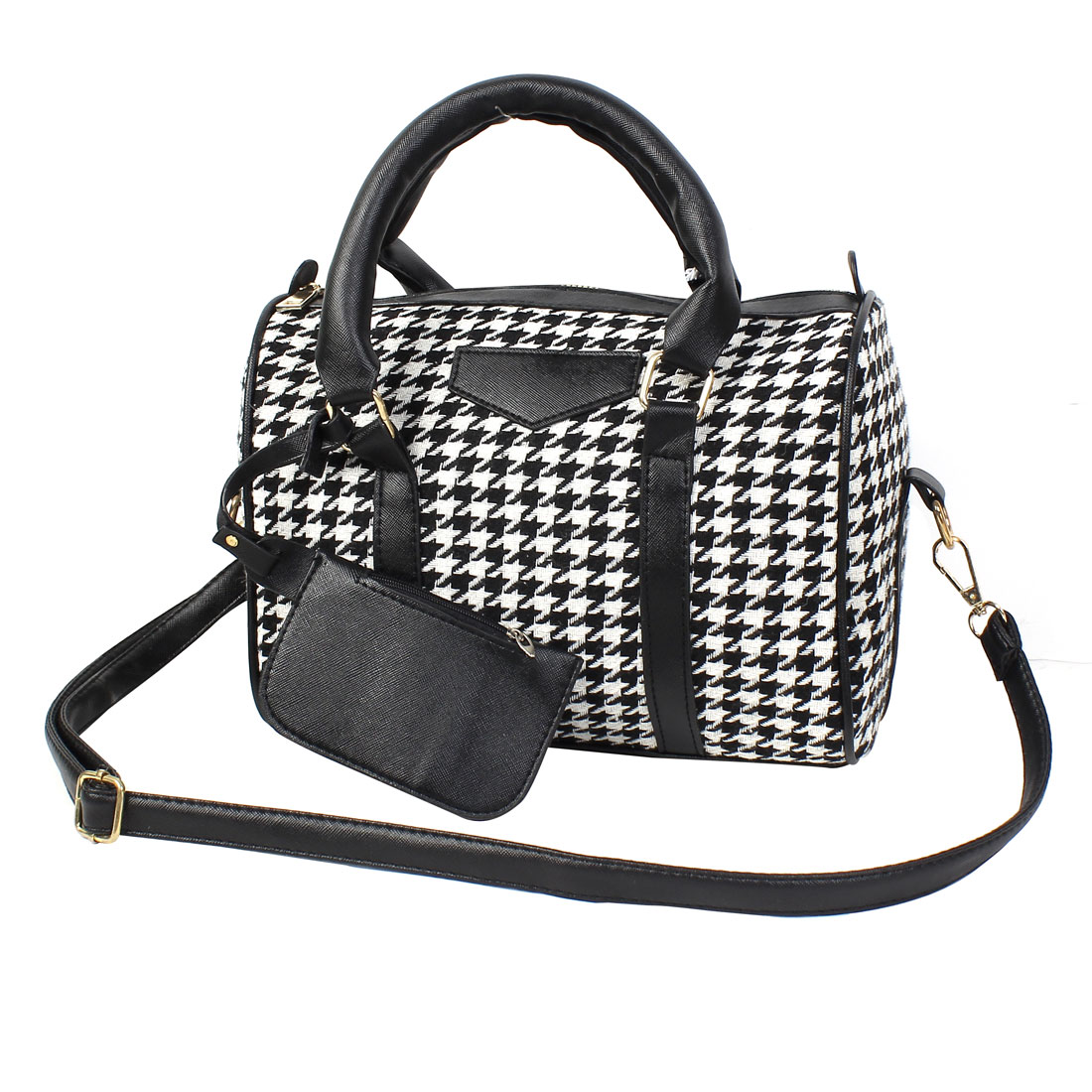 2015 New Women's Houndstooth Tote Messenger Crossbody Handbag Shoulder Bag