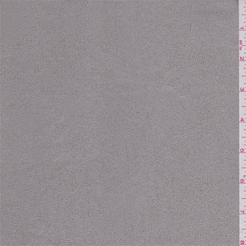Metallic Platinum Pleather, Fabric By the Yard