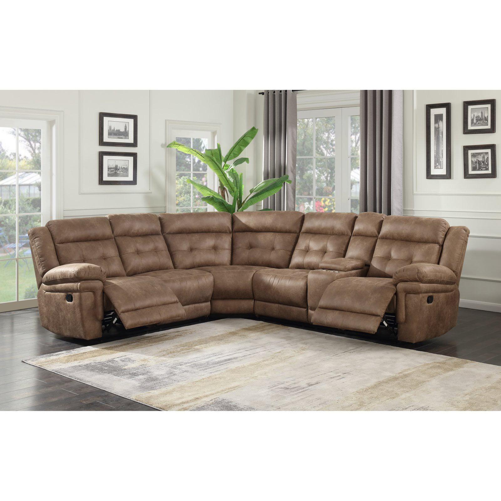 Steve Silver Co. Anastasia 3 Piece Reclining Sectional Sofa ...