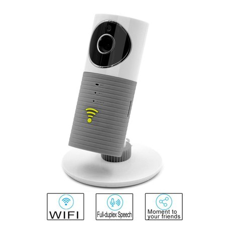 Clever Dog Wireless Surveillance Wifi Security Camera Smart Baby Monitor UK Gray