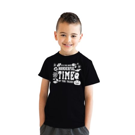 Youth Its The Most Wonderful Time Of The Year Tshirt Funny Halloween Tee For Kids (Most Wonderful Time Of The Year Halloween)