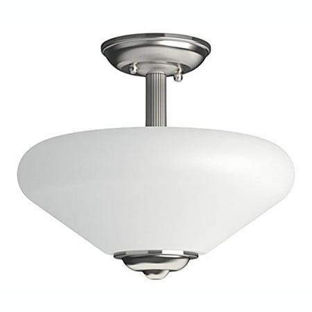 - Philips Veccia Ceiling Semi Flush Mount 2 Light Glass Pendant Fixture, Grey