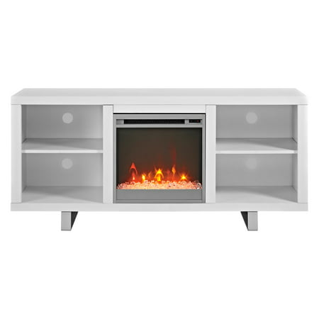 Walker Edison Simple Modern Fireplace TV Console