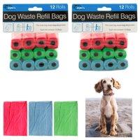 24 Rolls Dog Waste Poop Bags Refill Pooper Pick Up Clean Coreless Pet Outdoor