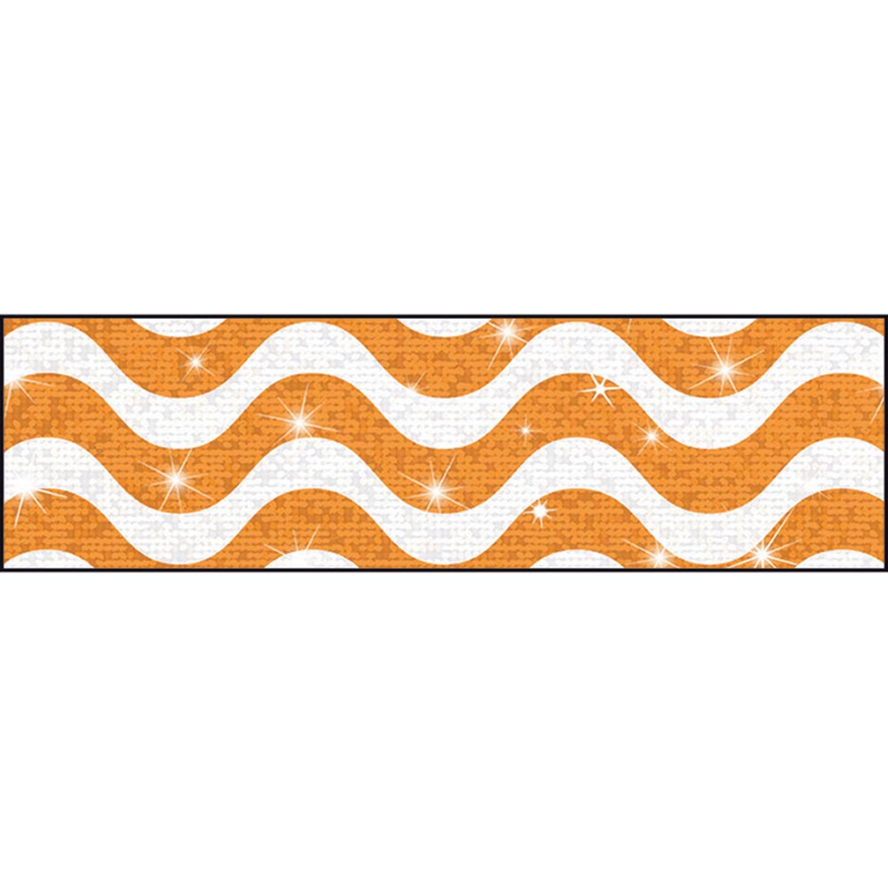 T-85414 - Wavy Orange Bolder Borders® – Sparkle Plus by Trend Enterprises Inc.