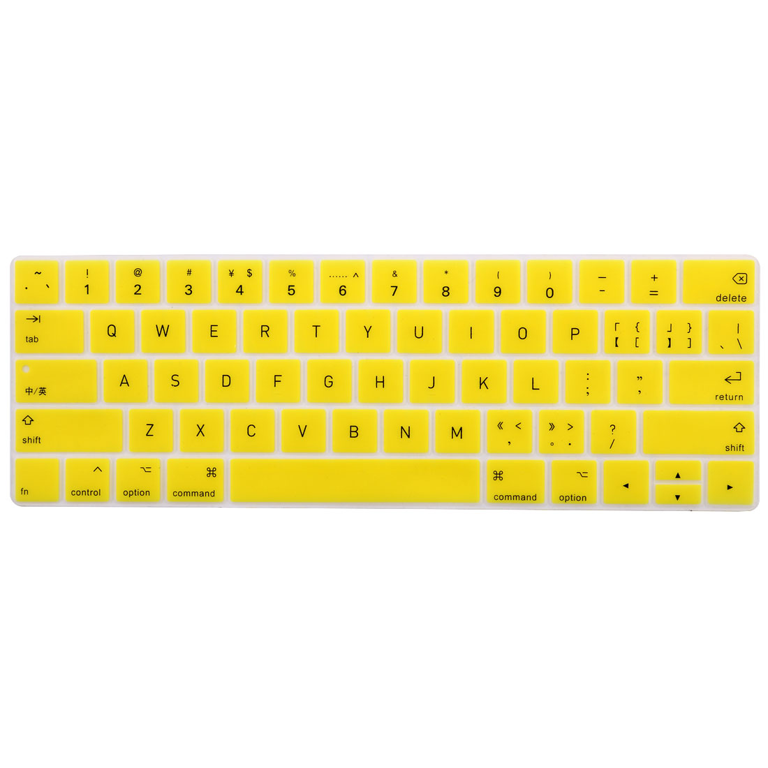 Laptop  Silicone Keyboard Protector Cover Yellow for Macbook Pro 13""