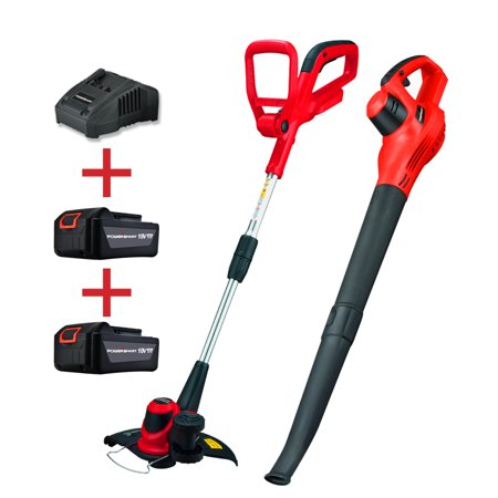 PowerSmart 18V Lithium-Ion Cordless String Trimmer and Blower Combo Kit Now $69.99