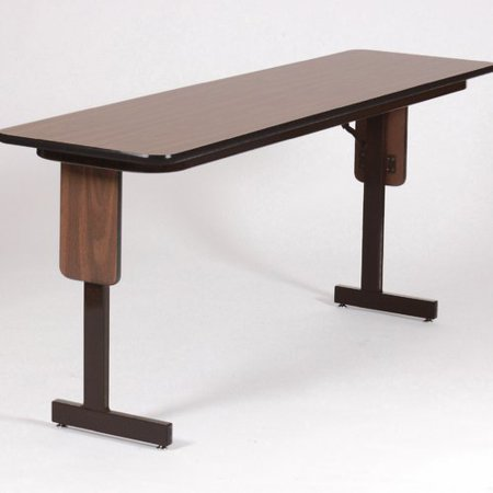Rectangle Laminate - Correll Rectangle with 3/4 in. High Pressure Laminate Top Panel Leg Seminar Table - Brown