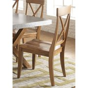 Liberty Furniture Keaton X Back Dining Side Chair in Honey