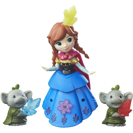 Disney Frozen Little Kingdom Anna and Rock Trolls - Anna Crown Frozen