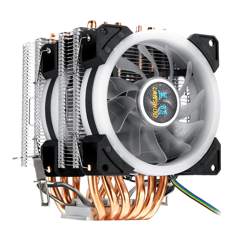 CPU Cooler 6 Heatpipe With RGB 4pin CPU Cooling Fan High Quality New