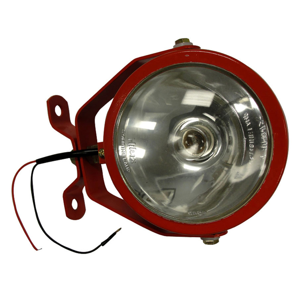 New Universal 12V 55 Watt Red Work Lamp Light with On / Off Switch and Handle