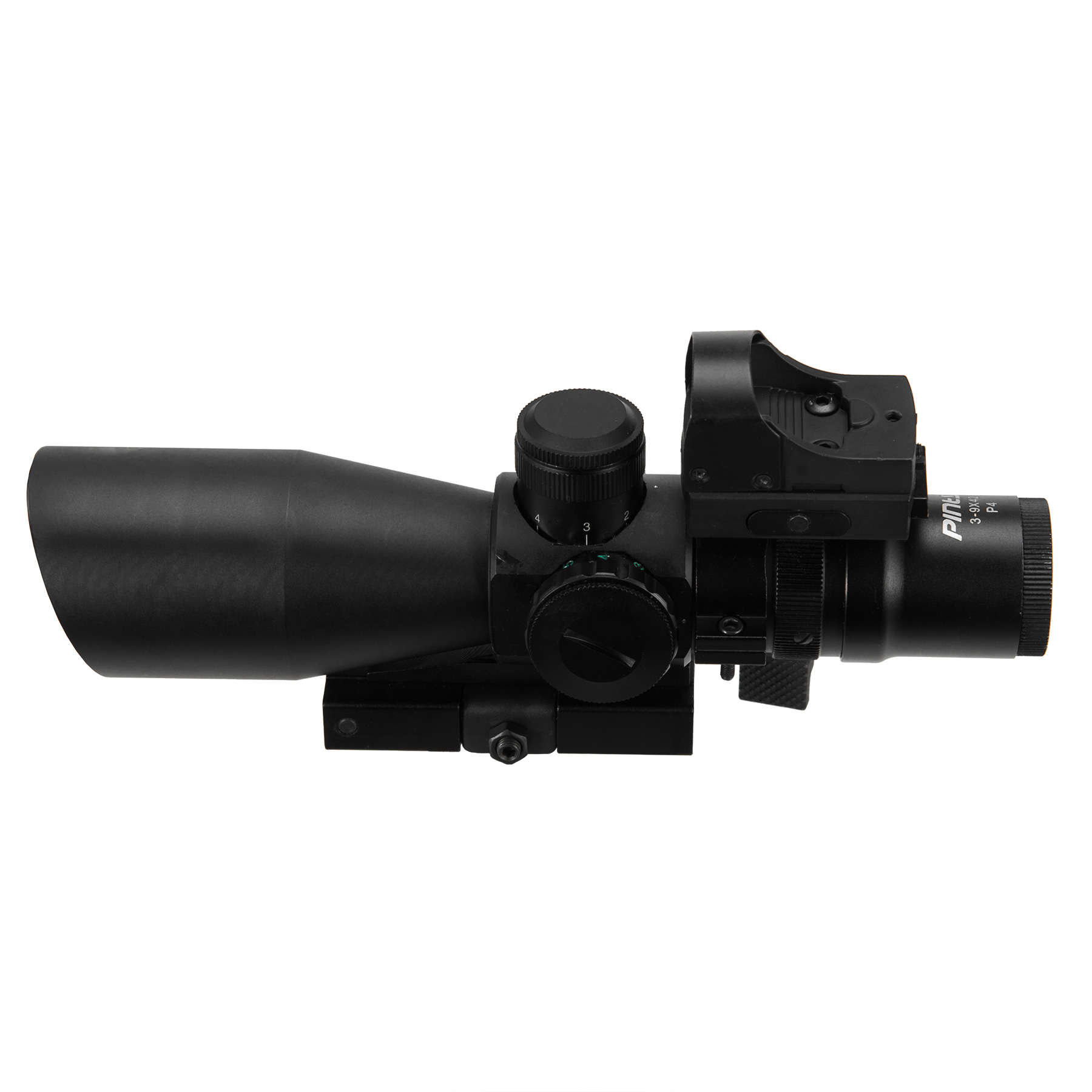 Rangefinder Mil Dot Reticle Riflescope with Red Dot Sight...