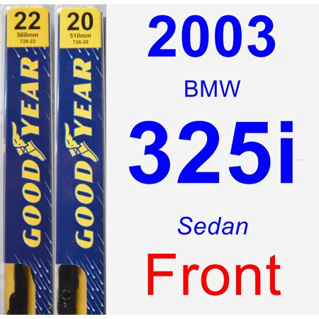 2003 BMW 325i Wiper Blade Set/Kit (Front) (2 Blades) - Premium