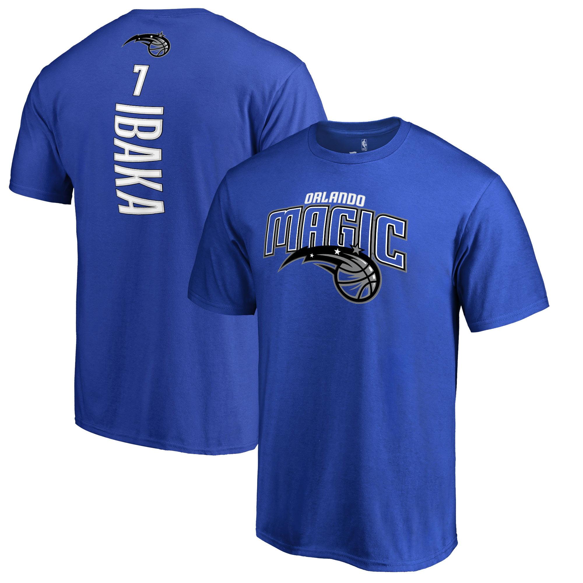 Serge Ibaka Orlando Magic Backer 3 Name & Number T-Shirt - Blue